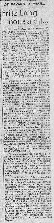paru dans L'Intransigeant du 16 avril 1932