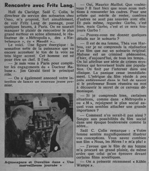 paru dans Marianne du 23 novembre 1932