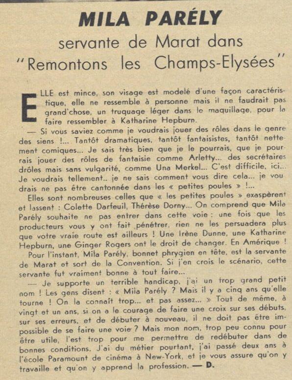 paru dans Pour Vous du 27 juillet 1938