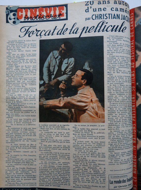 paru dans Cinévie du 10 septembre 1946