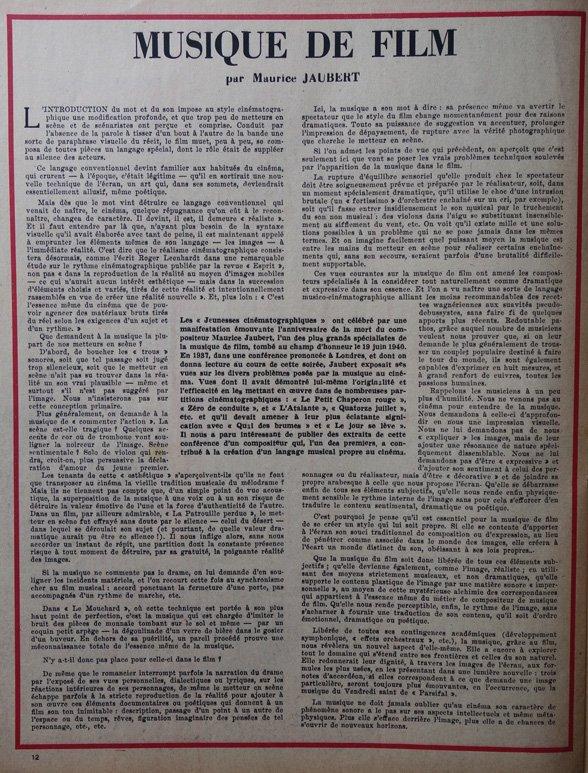 paru dans L'Ecran Français du 26 Juin 1946