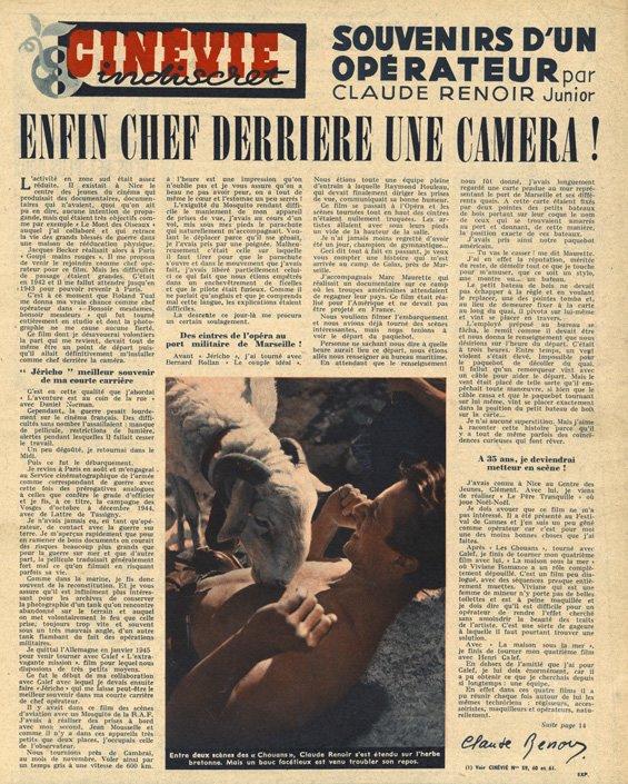 paru dans Cinévie du 03 décembre 1946