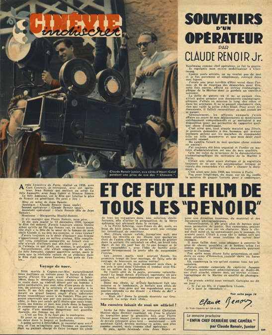 paru dans Cinévie 26 novembre 1946