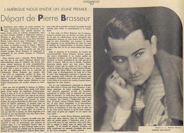 paru dans Pour Vous du 22 mars 1934