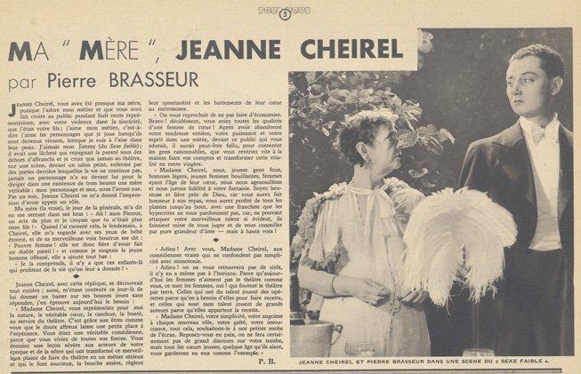 paru dans Pour Vous du 08 novembre 1934