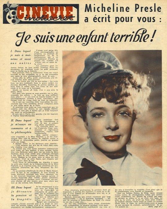 paru dans Cinévie du 21 mai 1946