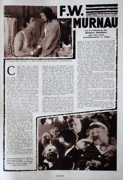 paru dans Cinémonde du 30 Janvier 1930