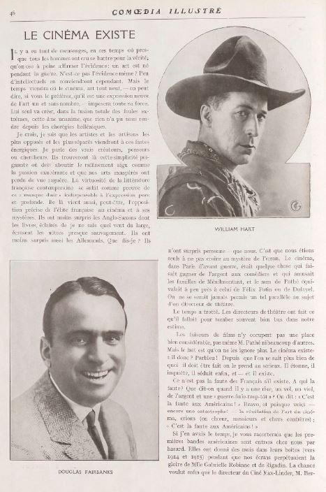 paru dans Comoedia Illustré du 5 novembre 1919