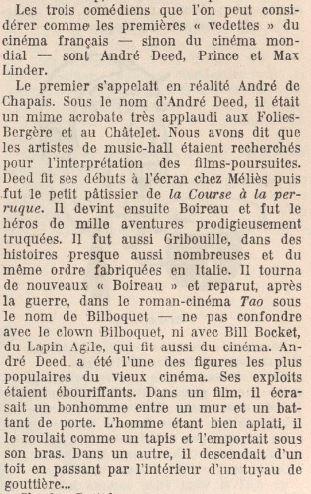 paru dans Les cent visages du cinéma (Grasset, 1948)
